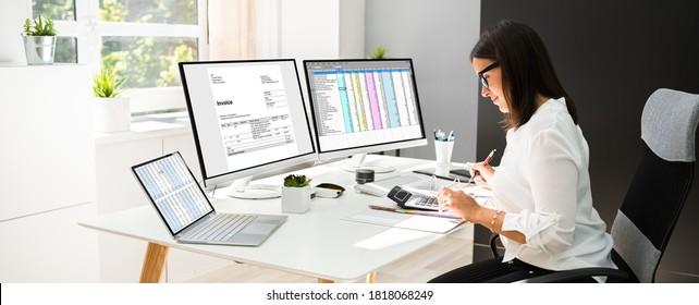 Online-Steuern und Rechnungen mit Computer und Rechner