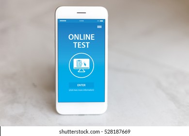 ONLINE TEST CONCEPT ON SCREEN