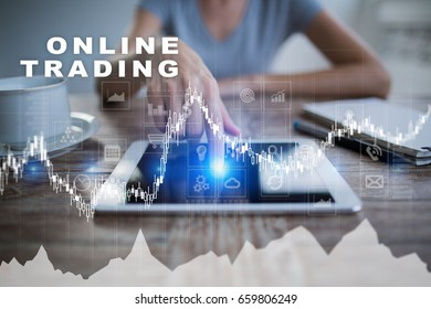 Online trading. internet investment. Business and technology concept.