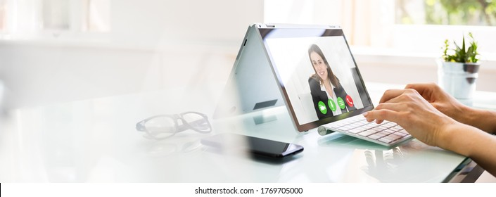 Online Video Conference Interview Call And Call Meeting - Shutterstock ID 1769705000