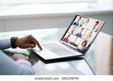 Online Video Conference Work From Home Webinar - Shutterstock ID 1831298794