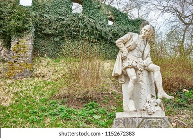 "The only statue of William Shakespeare on the European mainland - Public Park at the river ""Ilm"" in the city of Weimar in East Germany - Made by Otto Lessing"