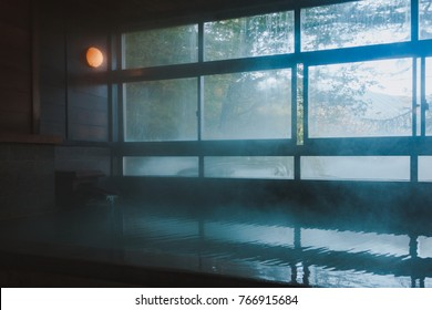 Onsen bath in the morning is just great!