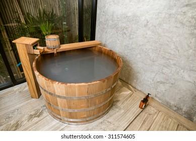 Onsen series : wooden bathtub
