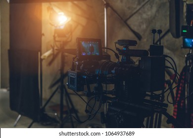 on-set movie camera close-up