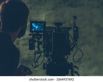 on-set movie camera close-up