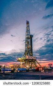 Onshore land rig in oil and gas industry.