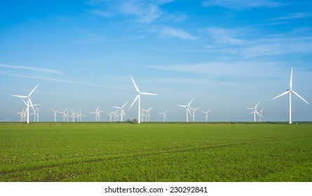 Onshore windmill power plant in northern Germany