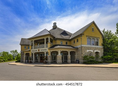 ONTARIO - CANADA, JUNE 16 2016: The famous Reif Estate Winery has earned international acclaim being recently named Best Canadian Winery of the Year. located in Niagara on the Lake in Ontario, Canada.