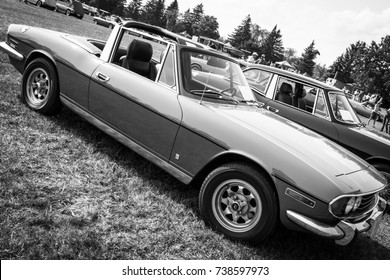 ONTARIO - SEPT 17, 2017: British cars on display at the 34th Annual British Car Day, Bronte Creek Provincial Park
