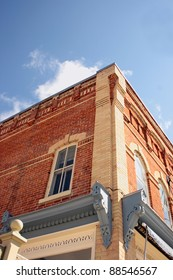 the façade of an Ontario Victorian store front carefully restored