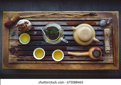 Oolong tea ceremony