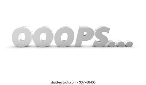 Ooops 3d letters, idea for 404 error web page.