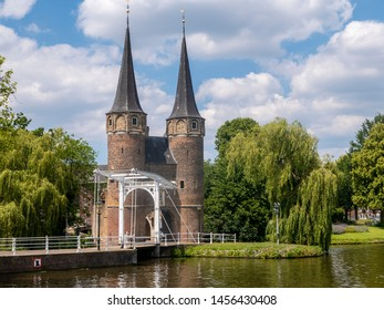 Oostpoort in the town of Delft in the Netherlands