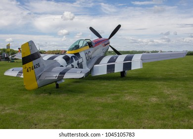 Oostwold, Netherlands May 25, 2015: P-51D Mustang Damn Yankee at Oostwold Airshow