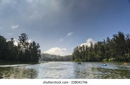 Ooty lake in Nilgiris, Tamilnadu, India