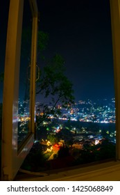 """OOTY, TAMILNADU 5th MAY 2019: A scenic veiw of lights from elk hill. Ooty has a cool and plesant climate with a lot of greenary around. The locals in Ooty say """"Ooty itself is an air-conditioner""""."""