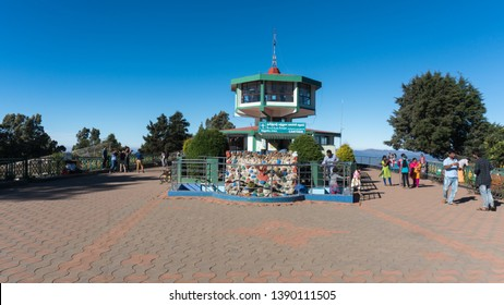 Ooty, Tamilnadu/ India-april-20-2019. tourists visiting Doddabetta view point which is the highest altitude in the Ooty, Doddabetta telescope house.