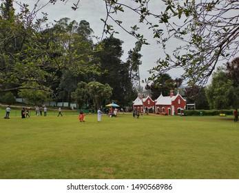 Ooty, Tamilnadu/India - 24 April 2019: Botanical garden at Ooty