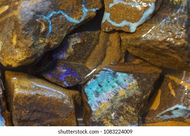 opal mineral collection as nice natural background