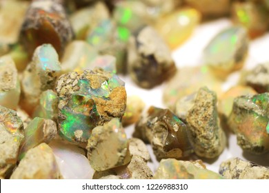 opal mineral collection as very nice natural background