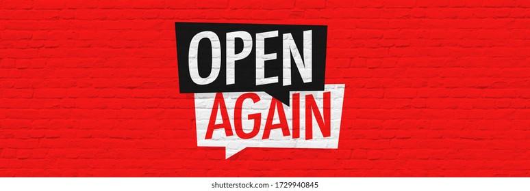 Open again on brick wall