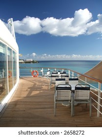 Open air bistro on a cruiseship