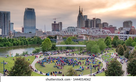 Open Air Music performance at Cumberland Park in Nashville - NASHVILLE, TENNESSEE - JUNE 15, 2019