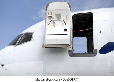 Open aircraft door