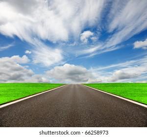 Open asphalt road