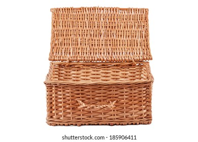 Open Basket Isolated on a White Background