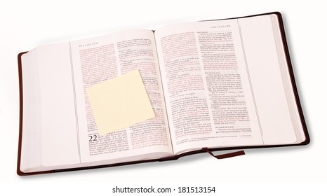 Open Bible with the note