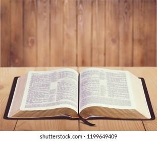 Open Bible on desk