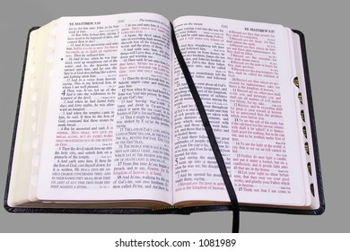 Open Bible on neutral background, with clipping path
