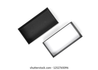 Open Black box isolated on a white background