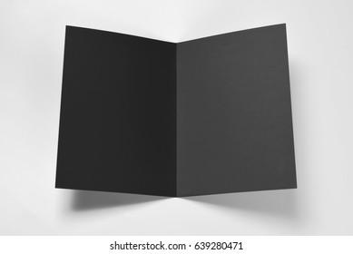 Open blank black card
