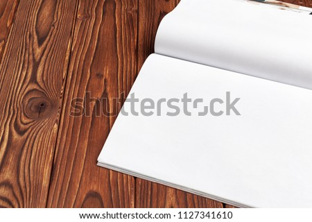 open blank journal pages your design stock photo edit now