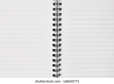 open blank notebook on isolated white background
