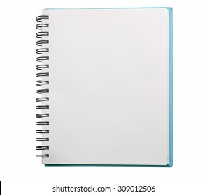 Open Blank Page notebook with clipping path