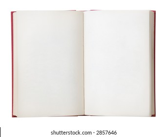 Open book with blank pages. Isolated on a white background.
