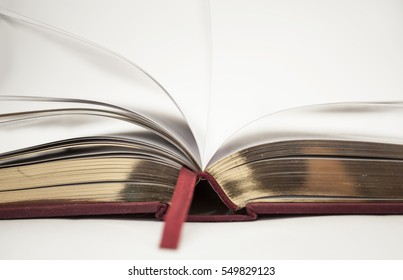open book with gold cut