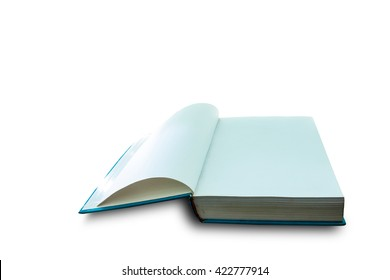 open book isolated background
