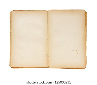 Open book isolated on a white background.