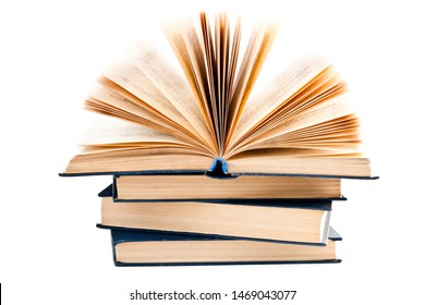 open book isolated on a white background