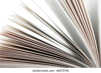 Open book isolated over white background