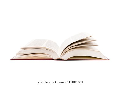 Open book isolated white background