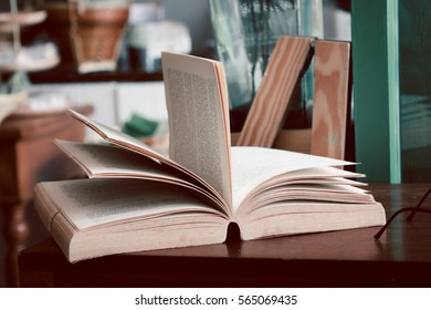 Open book left on the table