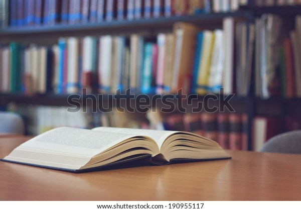 Open book on the desk