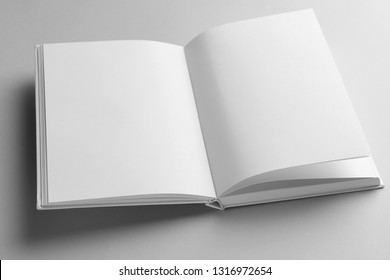 Open book on light background