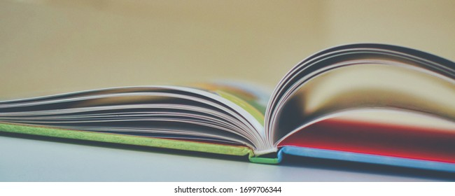 open book on a table